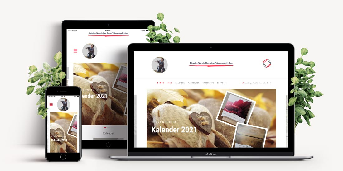 Responsive Webdesign - Website Jasmin Baur Spendenaktion