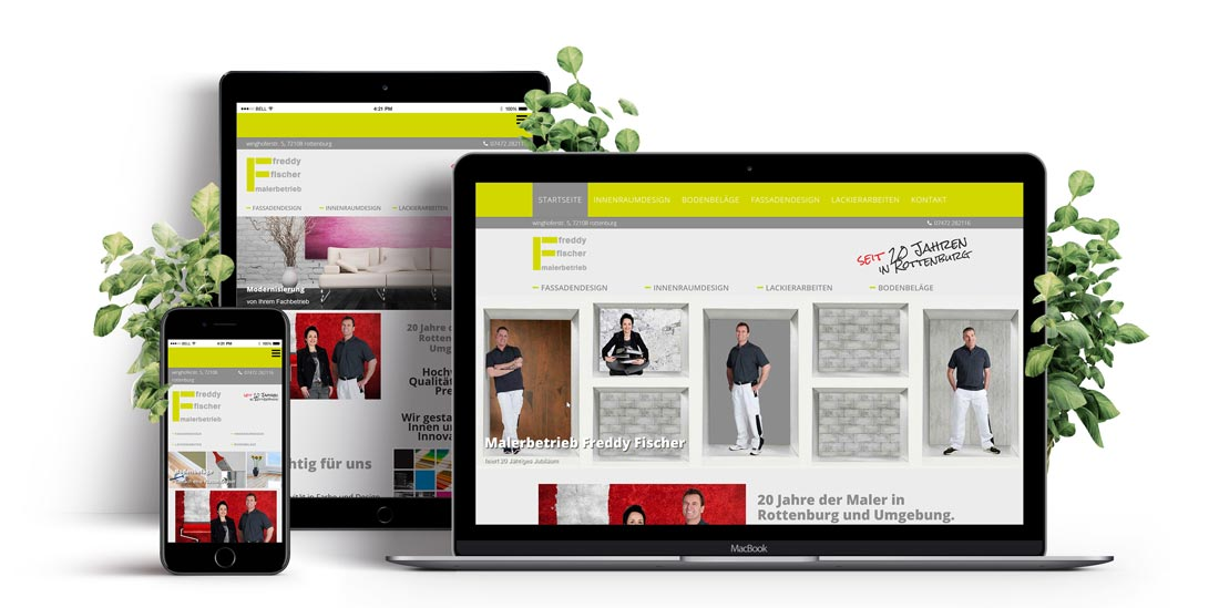 Responsive Webdesign - Website Maler Freddy Fischer