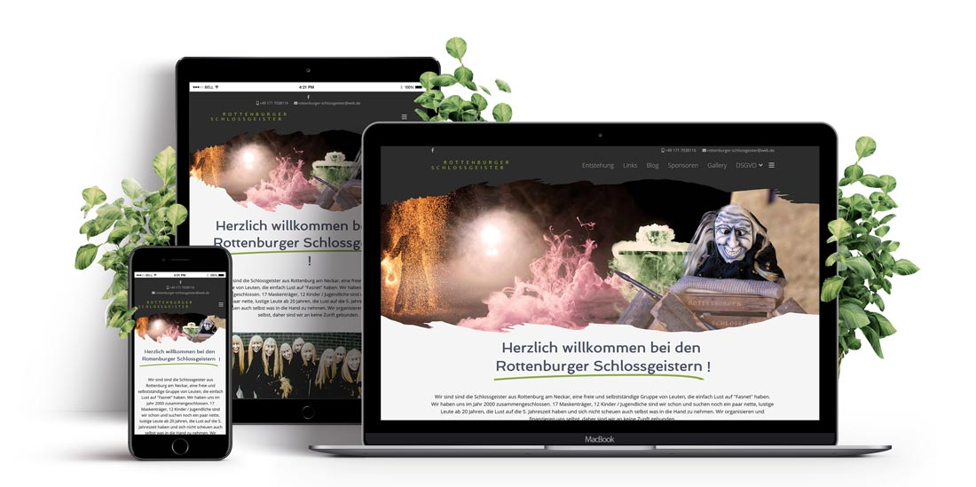 Responsive Webdesign - Website Rottenburger Schloßgeister